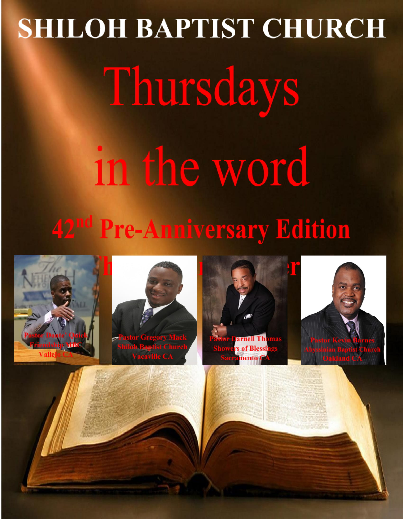 Thursdays In The Word (42nd Pre-Anniversary Edition)